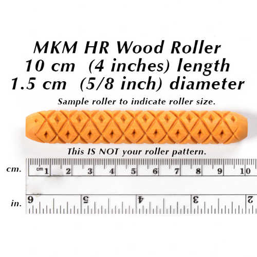 картинка HR-16 Скалочка декоративная 10 см, MKM Pottery Tools от магазина Керамистам.ру